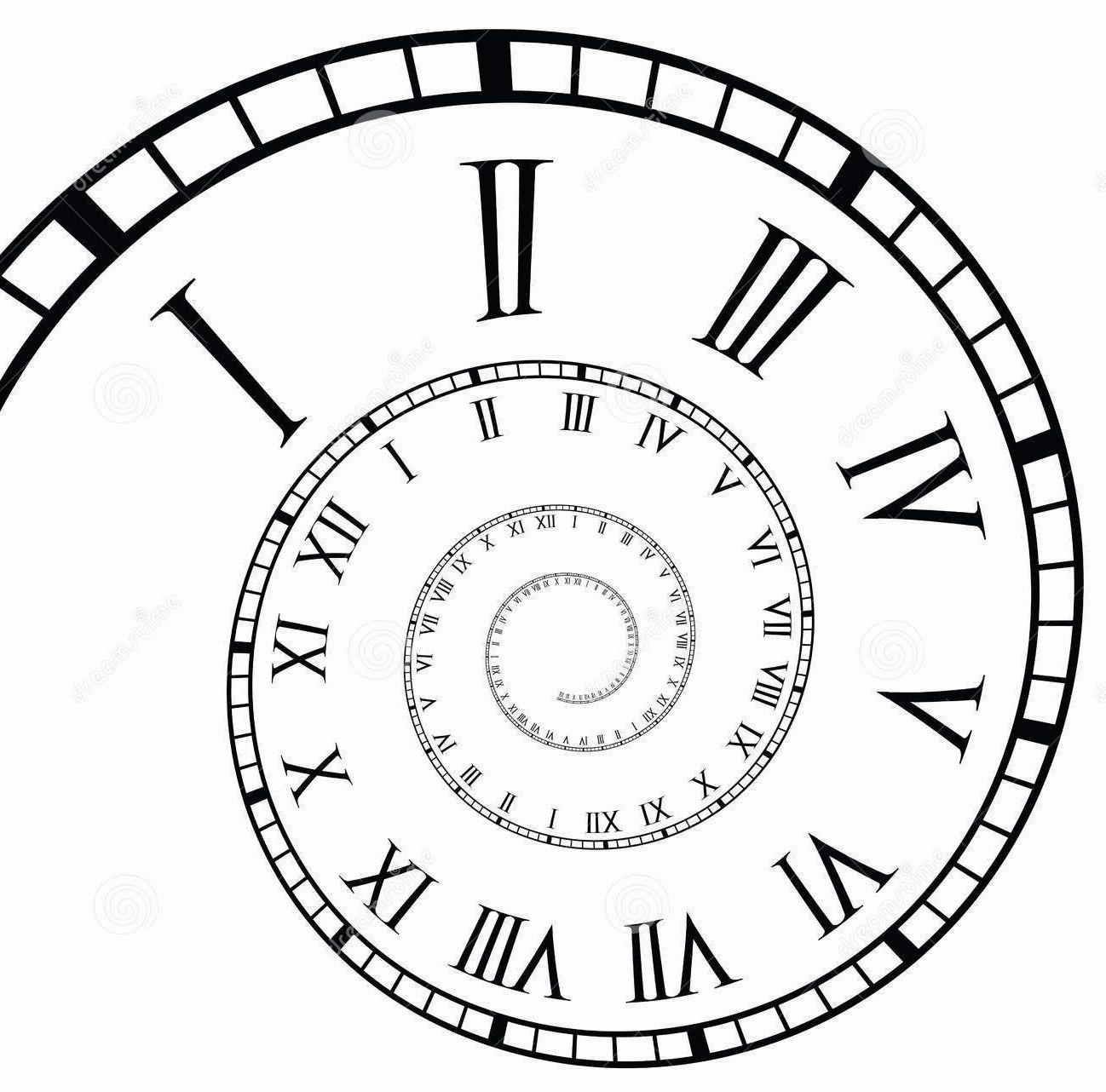 Spiral Roman Numeral Clock