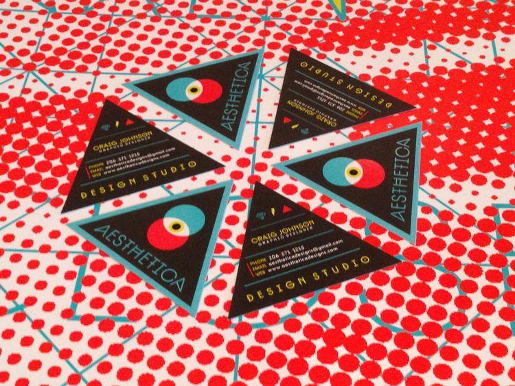 triangular business cards google search design pinterest