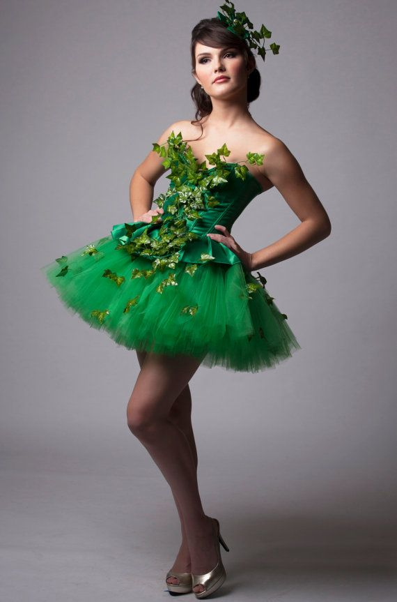 Custom Poison Ivy Green Dress Costume Prom Halloween Costume