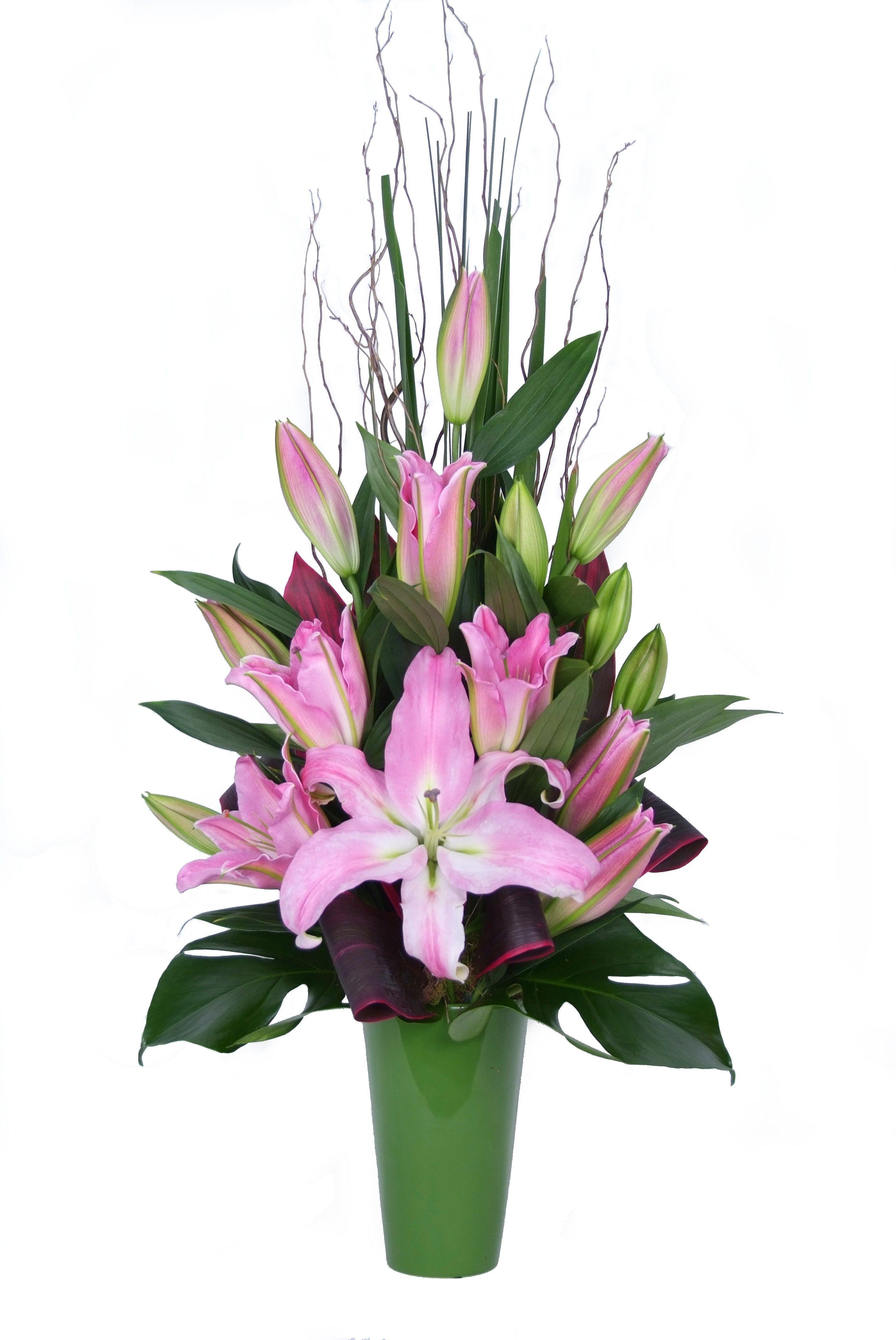 Oriental Lily Arrangement Donvale Flower Gallery Flower
