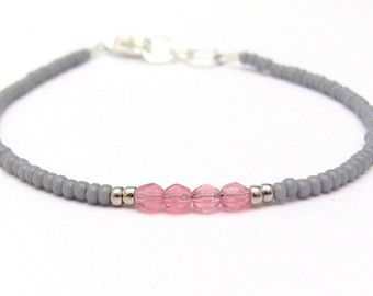 8696d2ea1c8e good dove gray pink friendship bracelet seed bead bracelet beaded bracelet  sunset color petite with pulseras originales.