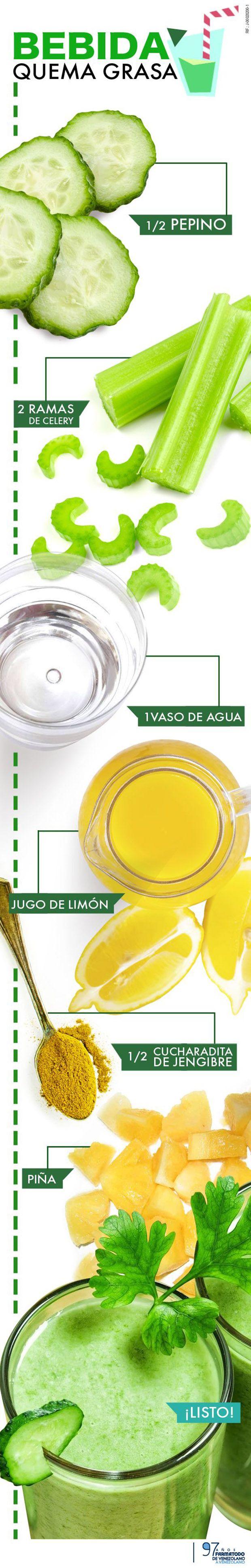 ¿Como preparar una bebida para perder peso? | Jugos Verdes