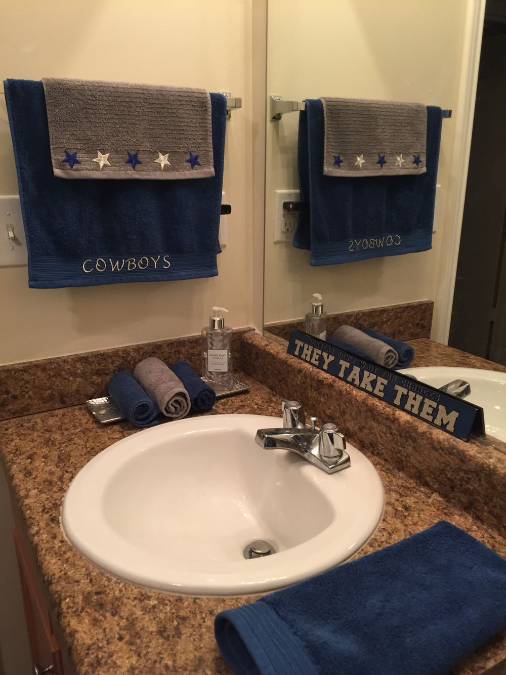 Dallas Cowboy Bathroom Re Design
