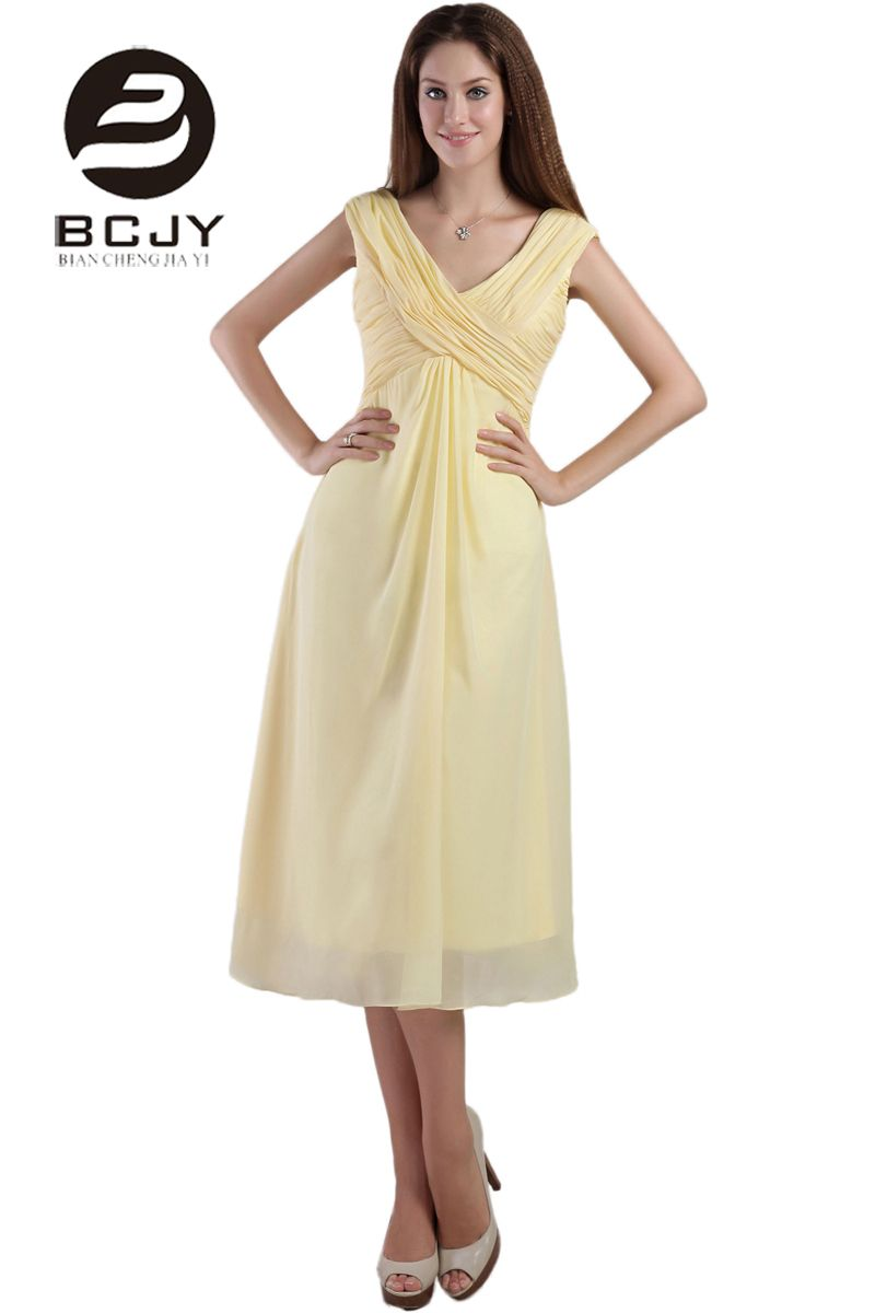 Click to Buy << 2017 New Arrival Cream Yellow Women Sexy V Neck ...