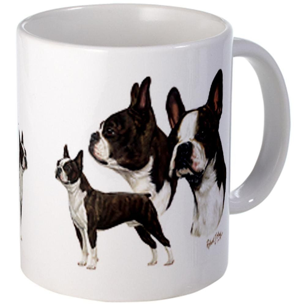 5e7401d8ec7 CafePress - Boston Terrier Mug - Unique Coffee Mug, 11oz Coffee Cup >>>  Additional details at the pin image, click it : Coffee Mugs