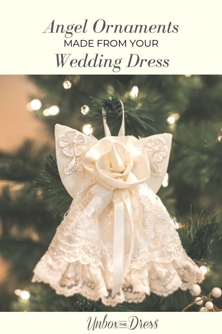 Guardian angel ornaments old wedding dresses wedding