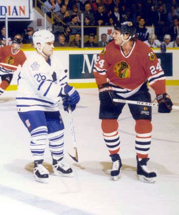 Tie Domi And Bob Probert Eye Other Up Before Dropping Gloves One