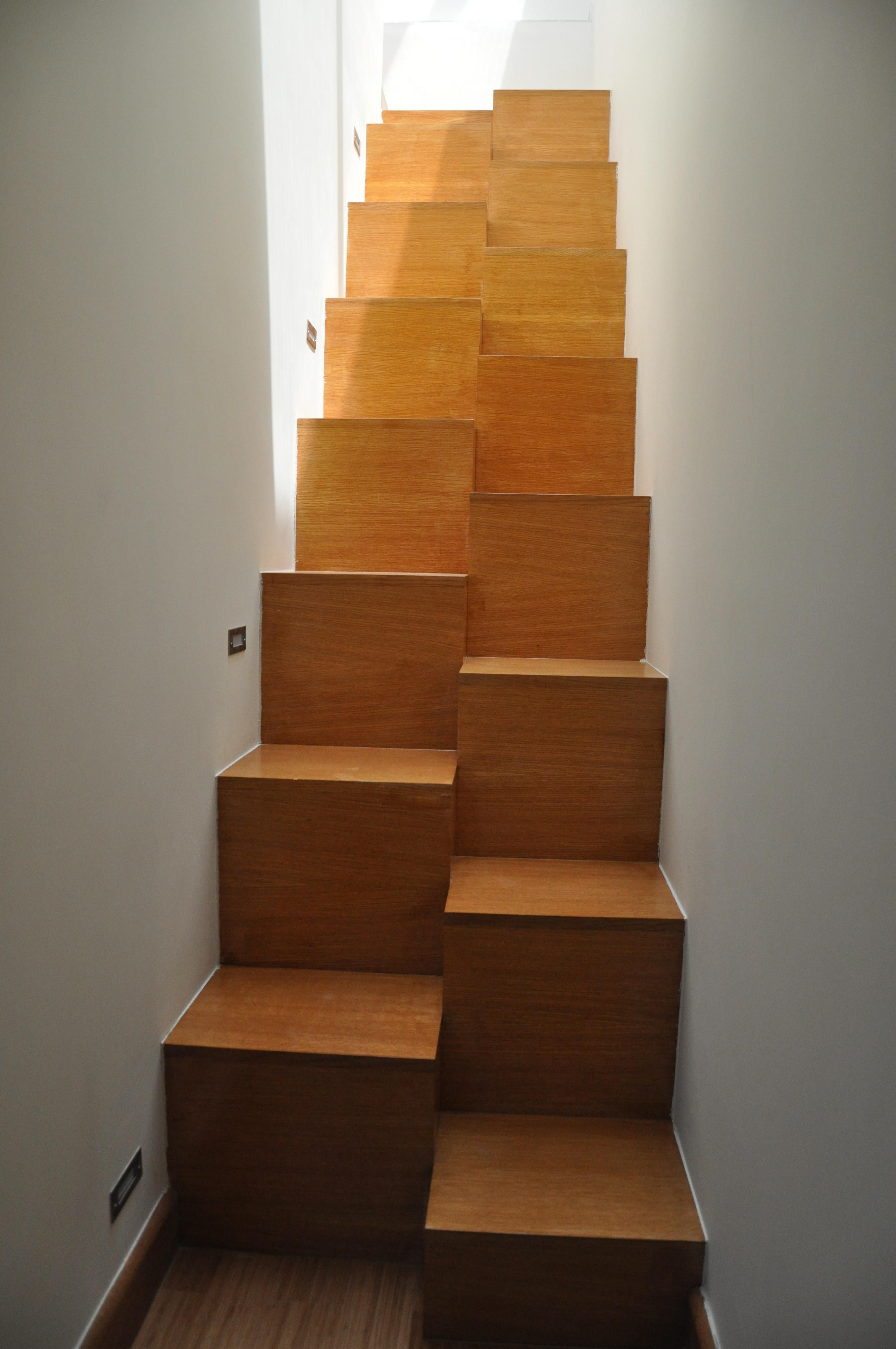 Samba stair made by oak wood I Private Residence Greece @Xyloskal ...