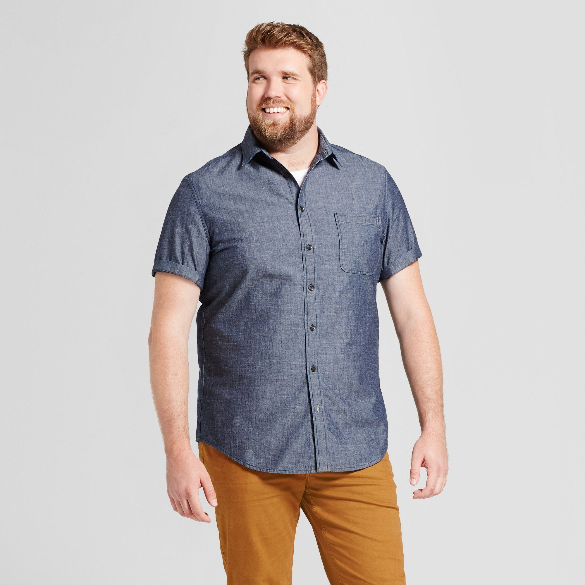 c7e21bc8dff Big And Tall Short Sleeve Denim Shirt - Cotswold Hire