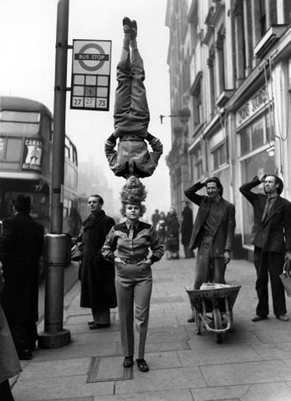 Two Members of the Bertram Mill Circus, 1953