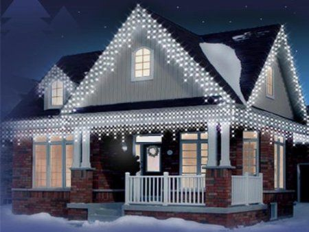 Christmas 120 white icicle snowing led bright xmas lights party christmas 120 white icicle snowing led bright xmas lights party outdoor amazon kitchen home mozeypictures Image collections
