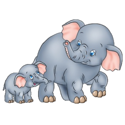 cute baby and momma elephant clip art mother and baby elephant s rh pinterest com elephant clipart cute elephant clipart for kids