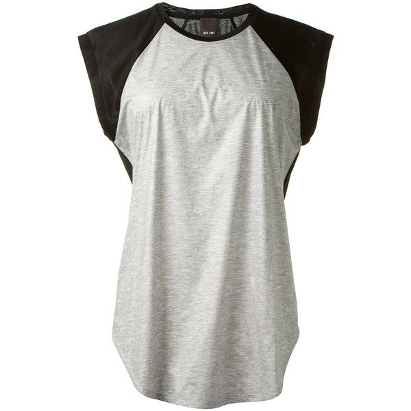 Josh Goot black and grey T-shirt found on Polyvore