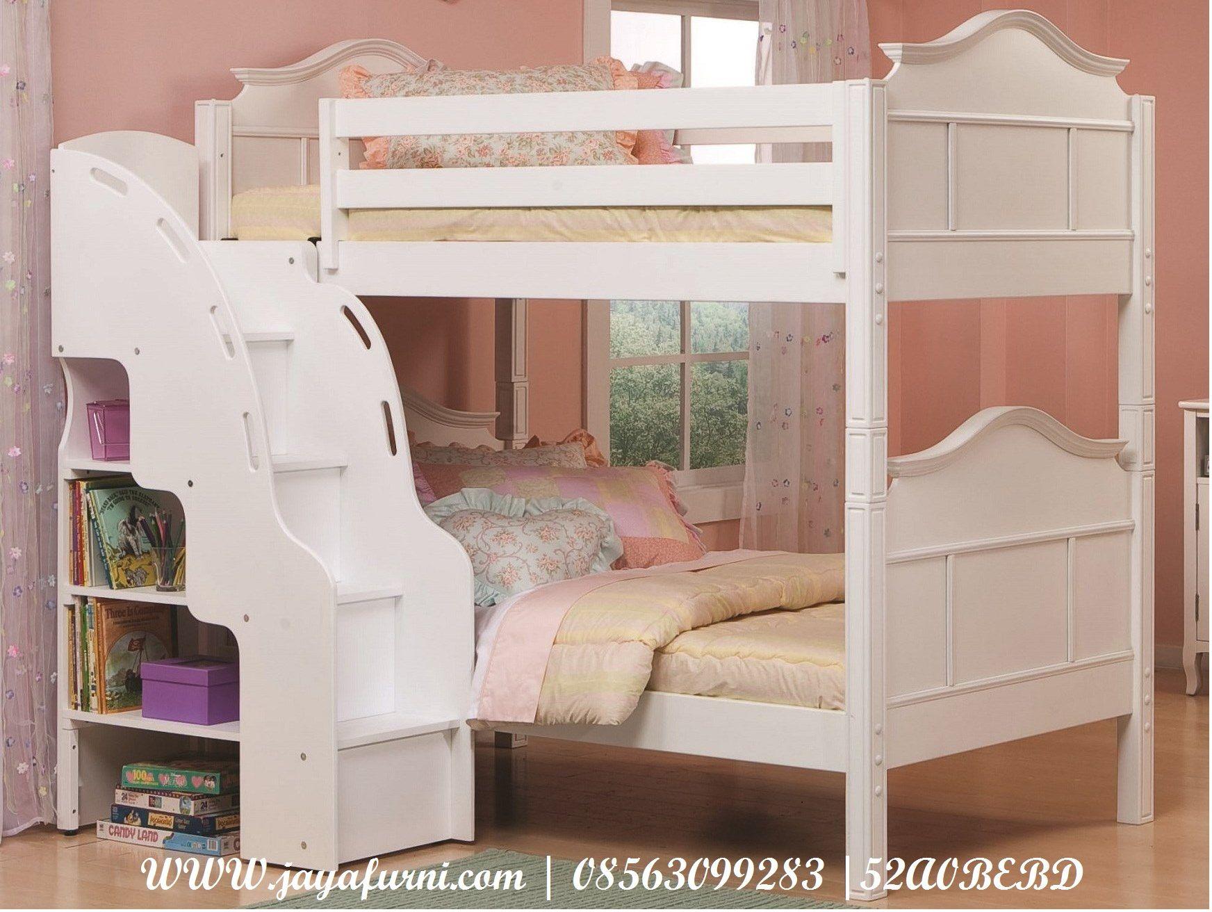 Jual Tempat Tidur Anak Kembar Tingkat Tangga Laci Model Tempat