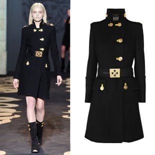 Slim Woolen Coat Wool Military Coat | Fashion | Pinterest ...