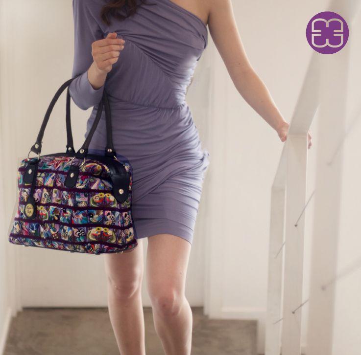 Fancy bag made of a spectacular huipil from Santiago Atitlán.