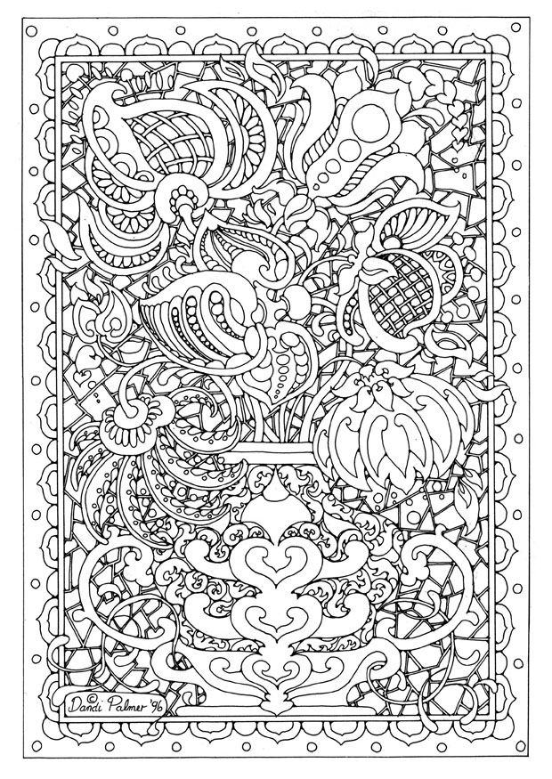Printable complicated coloring pages for adults coloring pages printables flowers shoaib