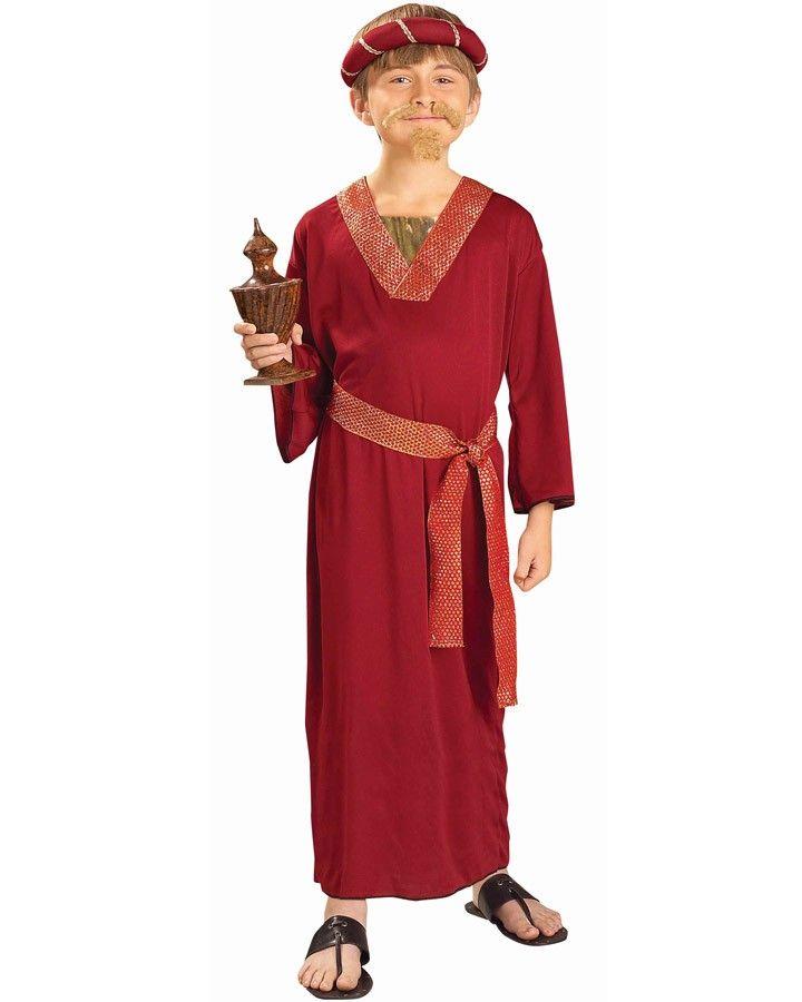 Wiseman Child Costume Burgundy Christmas Wise Man