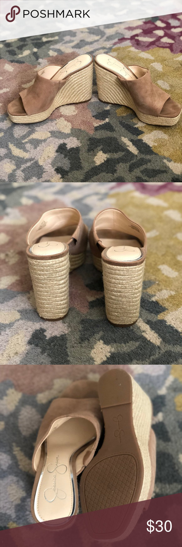 68ecf5d71e8a Jessica Simpson Wedge Espadrille Sandals Jessica Simpson Sirella Platform  Wedge Espadrille Sandals. Worn only once