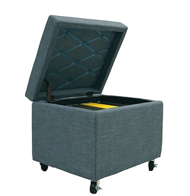 100 Cam Living Pembroke File Storage Ottoman With Wheels 20