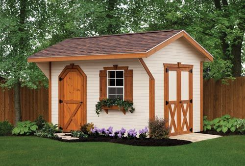the quaker shed from weaver barns is a popular choice that fits into many different landscapes - Garden Sheds With A Difference