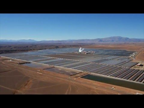 Unreleased video of NOOR1, the first phase of the largest solar thermal power plant in the world - YouTube