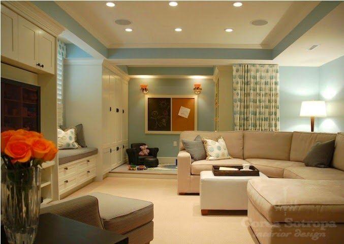 Basement Family Room Paint Color Ideas Basement Decor Home Family Room Design