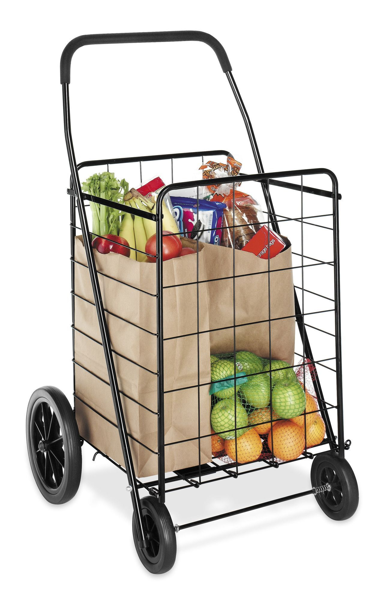 Deluxe 40 12 Rolling Shopping Cart In 2020 Rolling Shopping