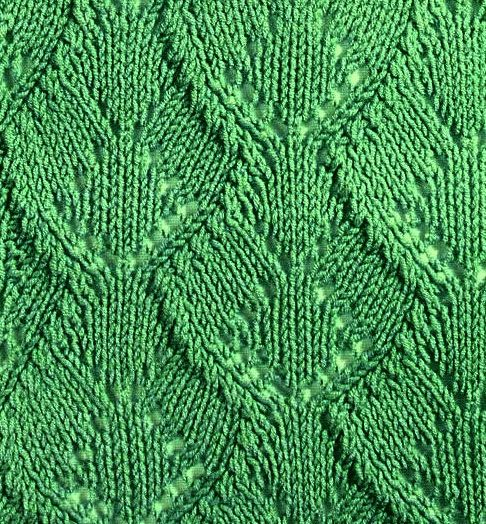 Gorgeous Wide Leaf Lace Knitting Stitch Pattern More Great Patterns