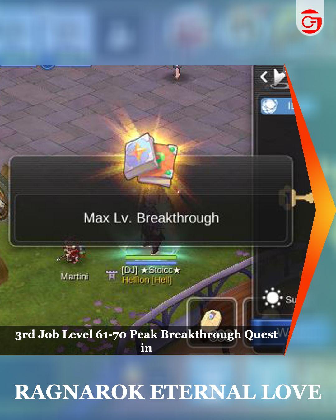 3rd Job Level 61 70 Peak Breakthrough Quest In Ragnarok Mobile Follow Us Gamerstopia Tv On Instagram Ragnarok Mobile Breakthrough Job