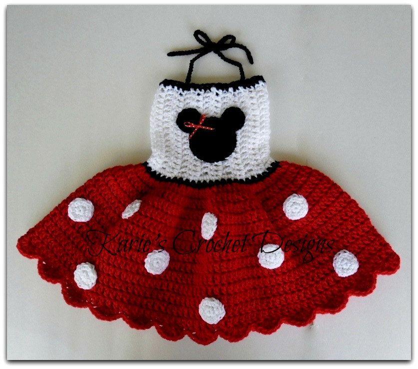 crochet baby dress pattern polka dot | Minnie Mouse RED Polka Dots ...