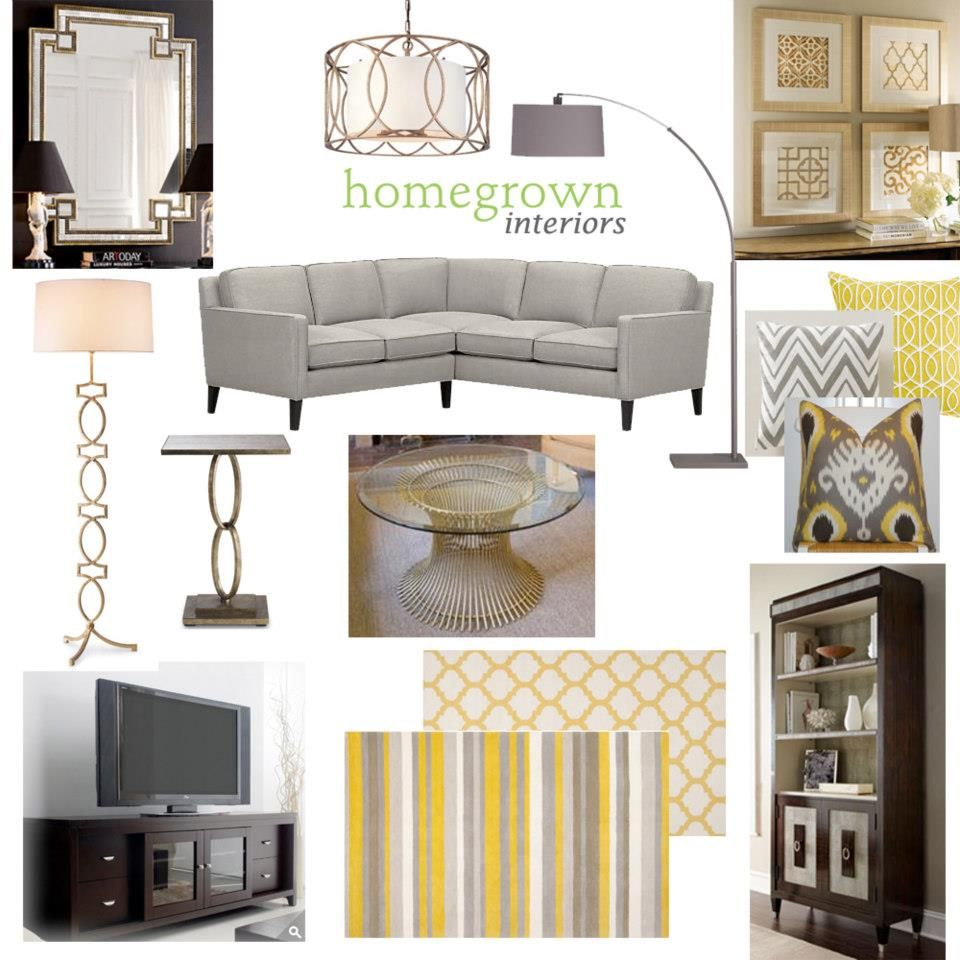 Grey and yellow living room ilove mood boards for Living room ideas grey and yellow