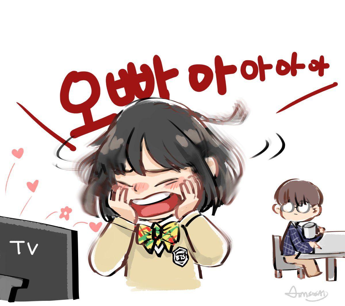 Pin oleh Hahahaha di BTS and BLACKPINK FanArt