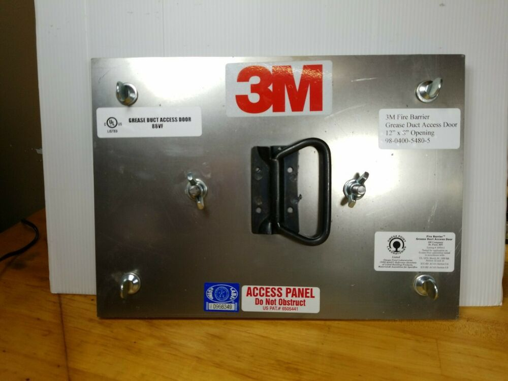 Sponsored Ebay 3m Fire Barrier Duct Grease Access Door Panel For 12 X 8 Opening Panel Doors Duct Grease