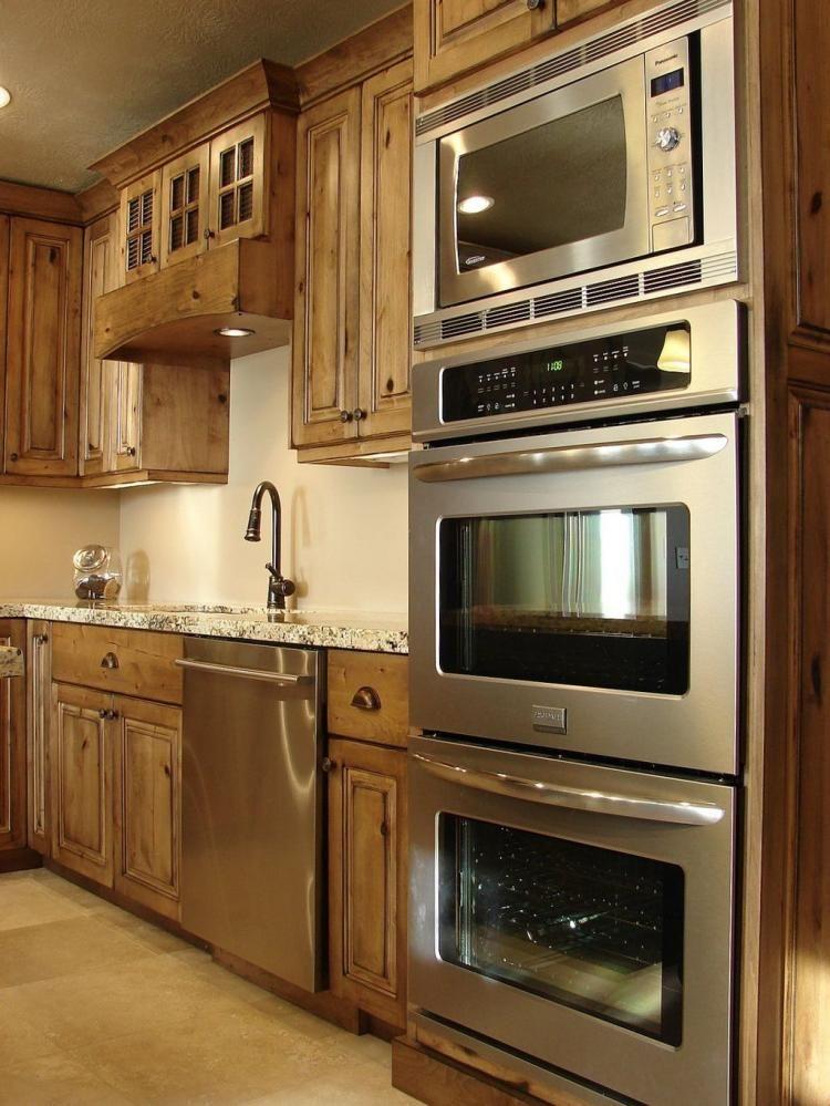 Stunning Rustic Kitchen Cabinets Ideas Dapur Impian Dapur