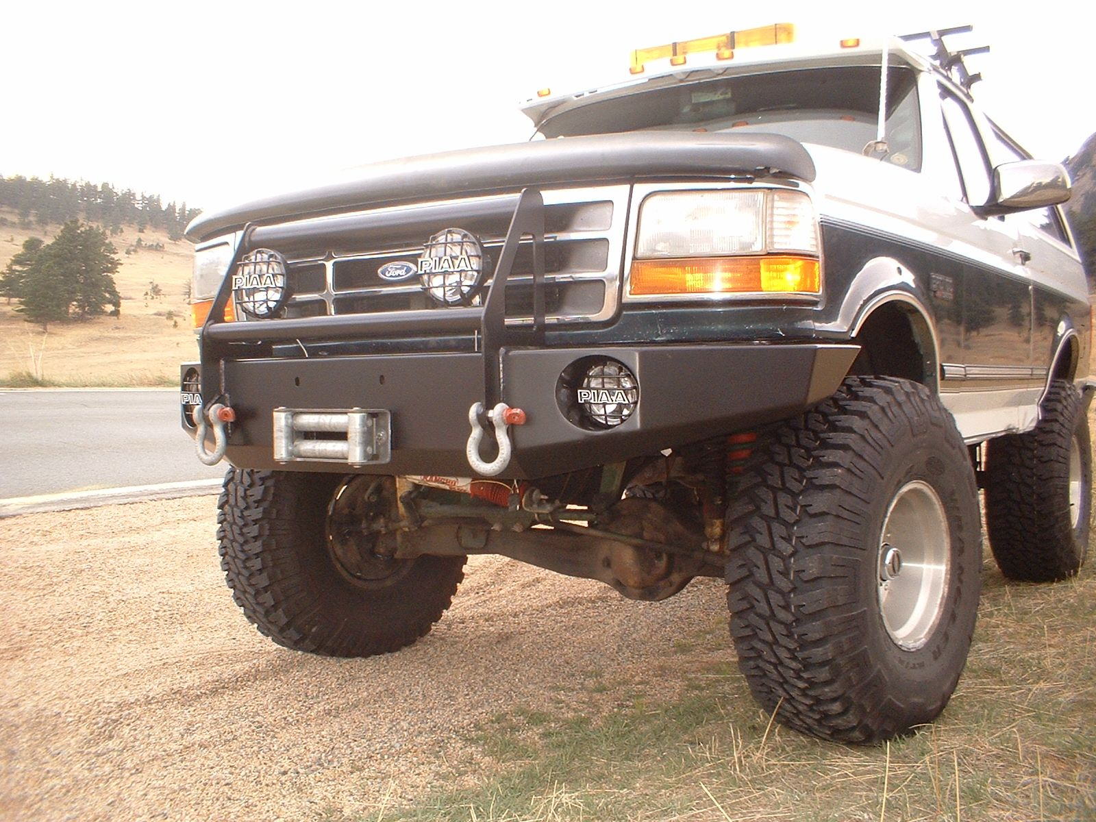 Extreme Duty Winch Bumper 92 96 Winch Bumpers Truck Bumpers Ford Pickup Trucks