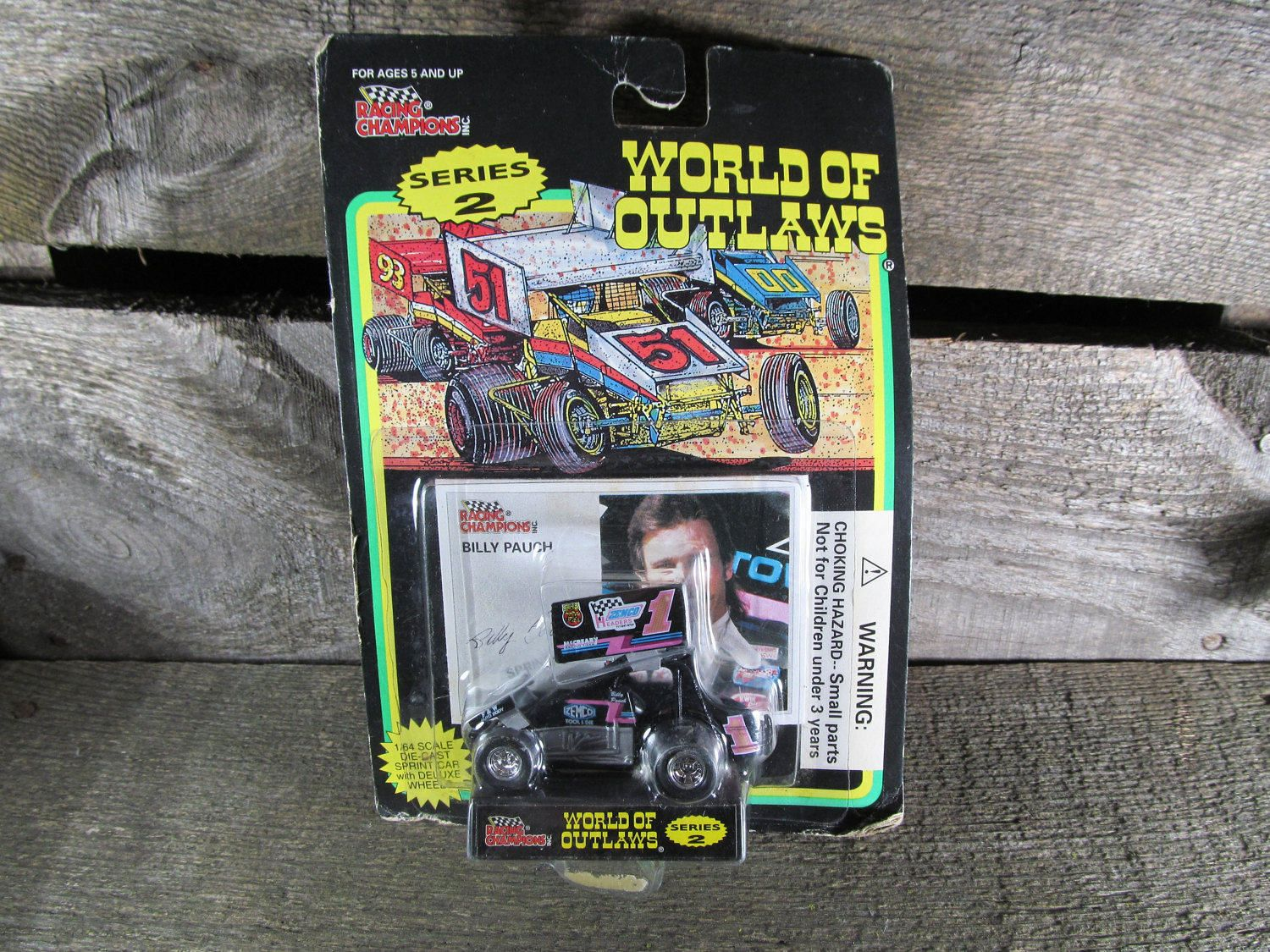 Billy Pauch #1, Racing Champions, World Of Outlaws, Sprint Cars 1994, 1/64 Scale Die Cast Model Car, Series 2, Collectible Toys by TheStorageChest on Etsy