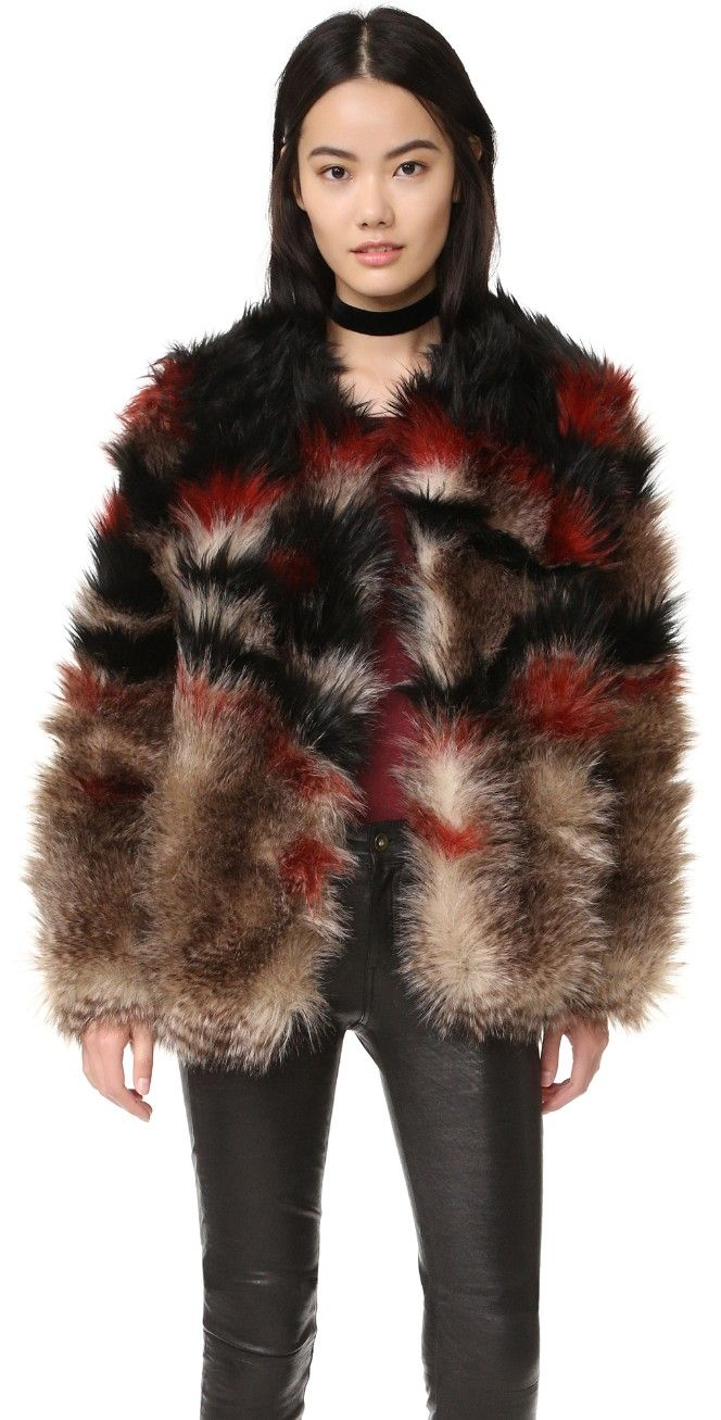 Free People Scarlet Fax Fur Jacket Shopbop Save Up To 30 Use Code Mainevent16 Stylish Fall Coat Fur Jacket Colorful Jacket [ 1307 x 664 Pixel ]