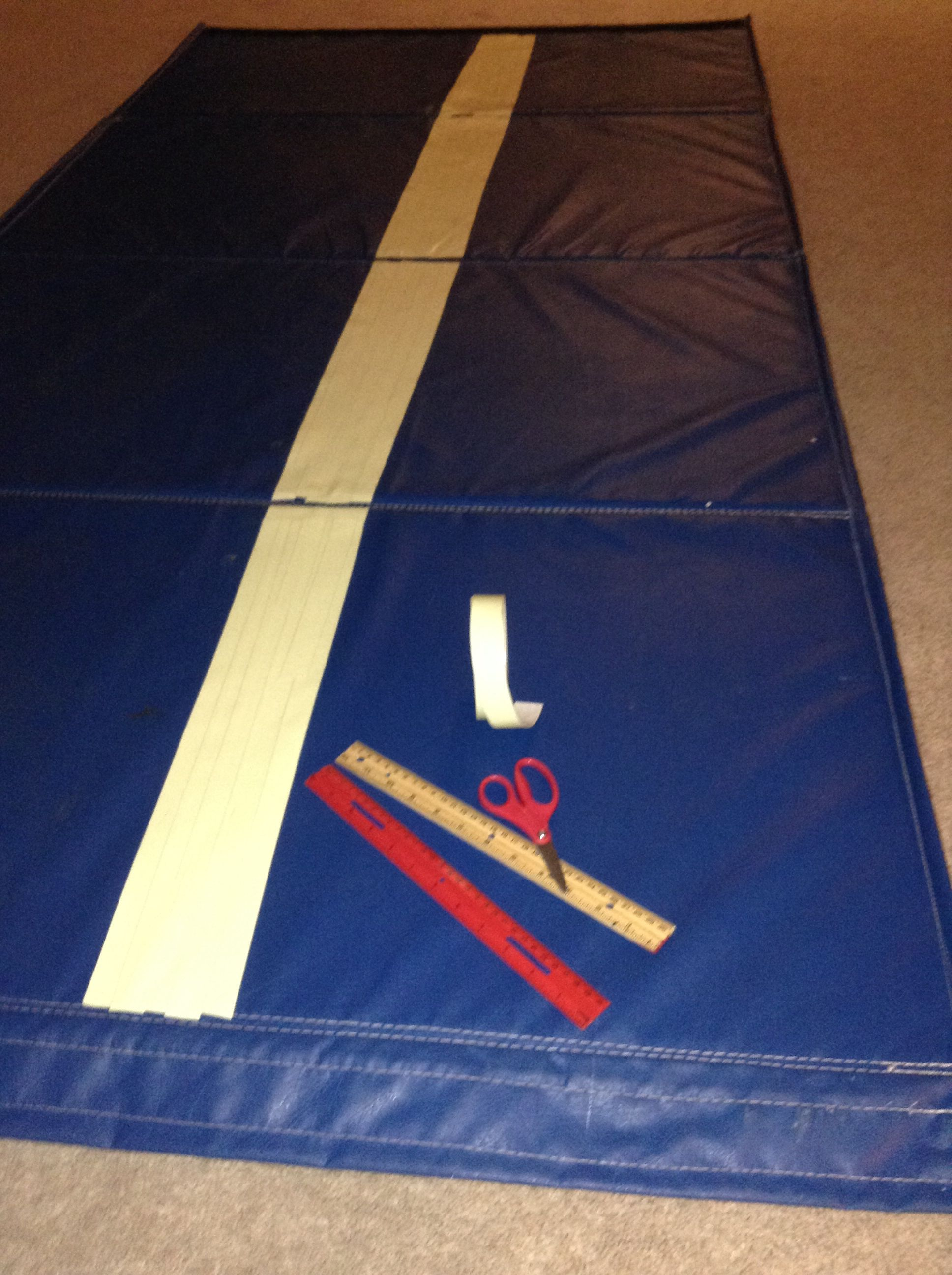 made with and beam steel gymnastics wooden pin suede diy mat a pipes foam faux flanges mats post