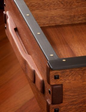 Finger Joints And Ebony Detailing On My Version Of The Entry Hall Table From The Gamble House By Gree Craftsman Furniture Arts And Crafts Furniture Woodworking