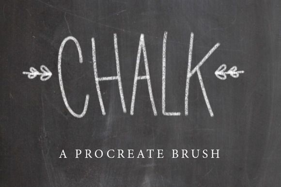 Chalk Procreate Brush by PrintableHaven on @creativemarket