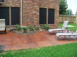 stained brushed concrete - google search | outdoor project ... - Patio Concrete Stain Ideas