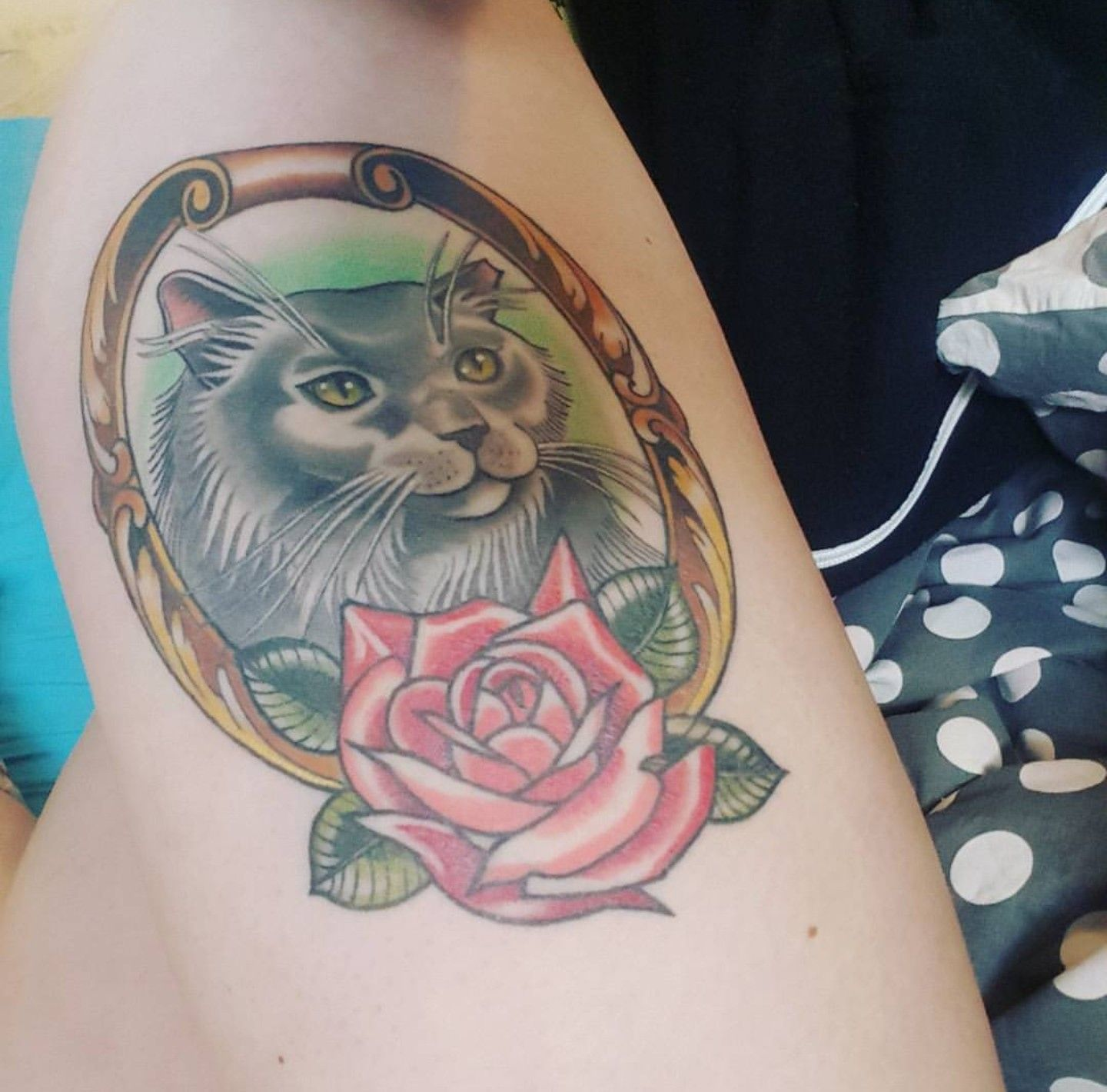 27+ Stunning Cat tattoos with roses ideas