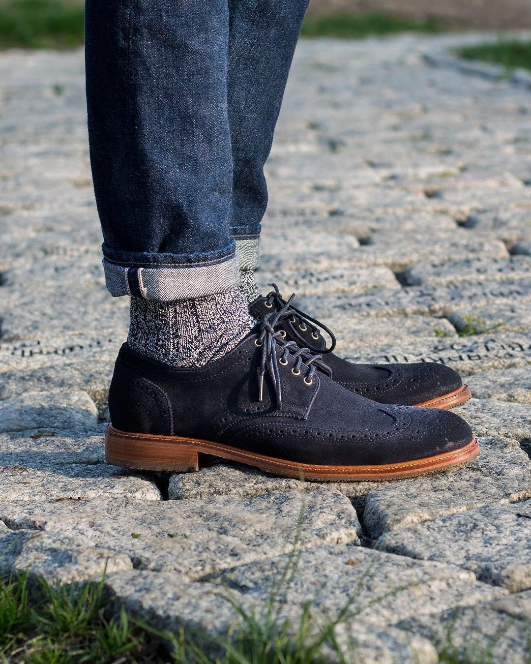 Feeling blue.📷 newenglandmenswear Dress shoes men