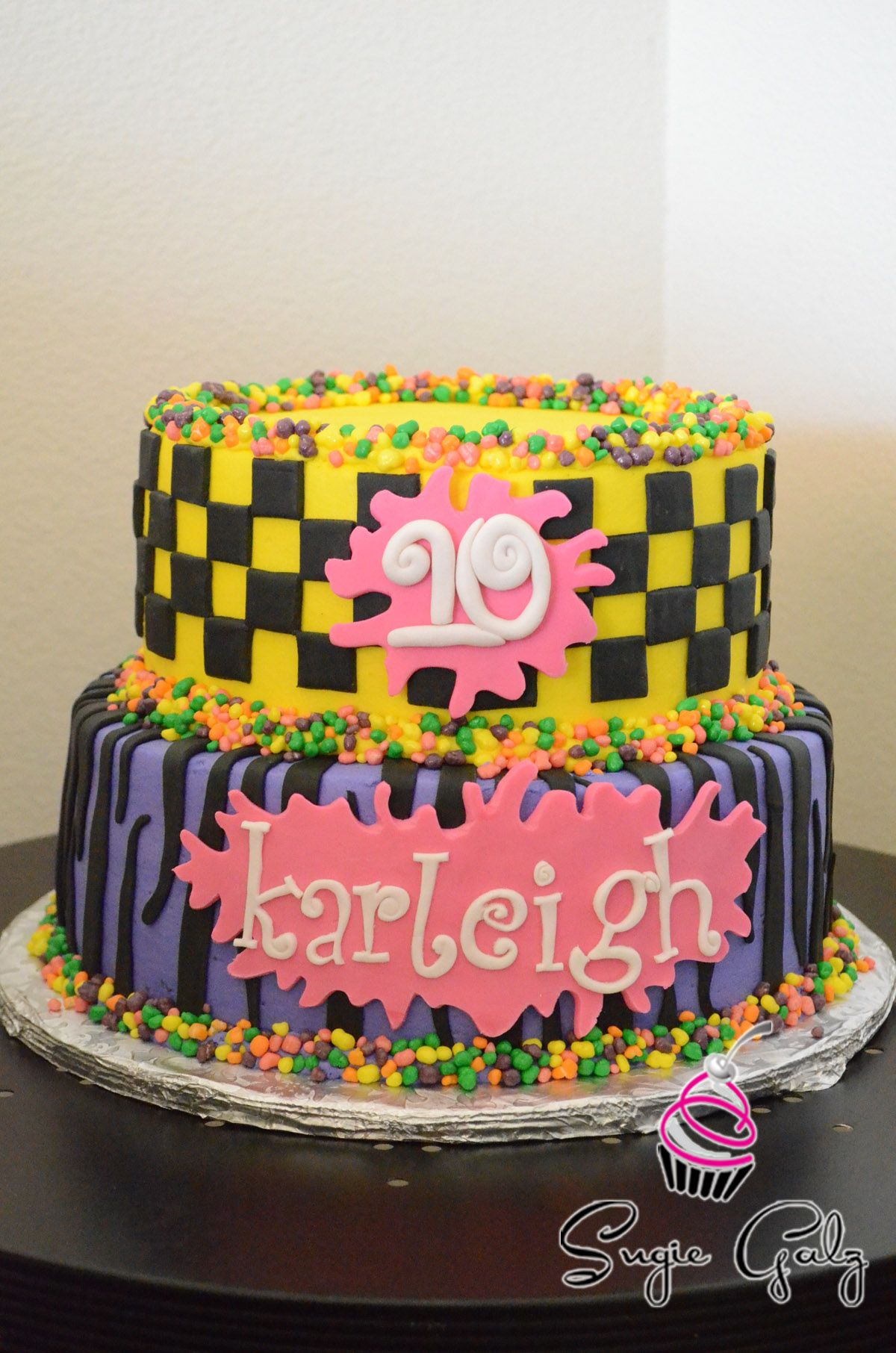 Fun 80s Theme Birthday Cake In Austin Texas
