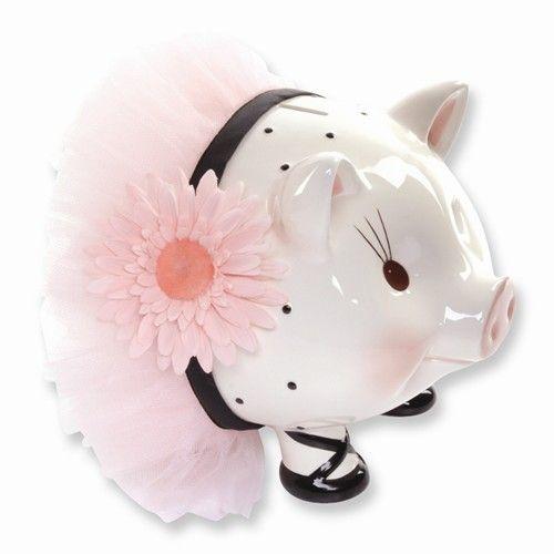 mud pie baby perfectly princess large ceramic piggy bank