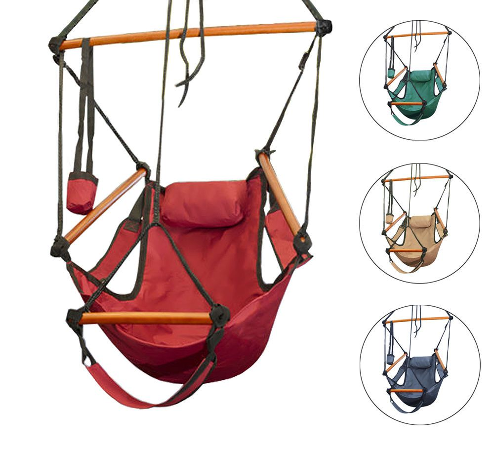 Details about hammock hanging chair air deluxe sky swing outdoor
