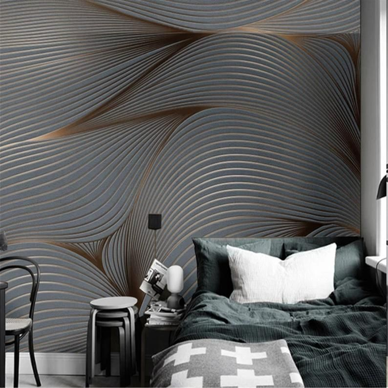 3d Wallpaper Modern Art Mural Retro Nostalgia Abstract Lines Photo Wall Painting Living Room Tv Sofa Background Wall Wall Painting Living Room Mural Wallpaper Living Room Paint