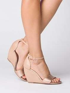 Wedge Shoes Thyme In Rose Gold