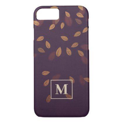 Burgundy Autumn Leaves Monogram Case-Mate iPhone Case | Zazzle.com #autumnleavesfalling